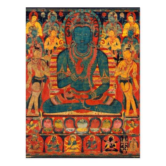 13th Century Transcendent Buddha w/ Bodhisattvas Postcard