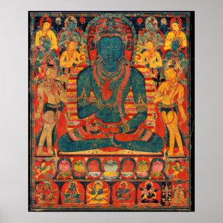 13th Century Transcendent Buddha w/ Bodhisattvas Poster