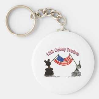 13th Colony Patriots Basic Round Button Key Ring