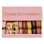 13th French Birthday Macaron-Joyeux Anniversaire! Card
