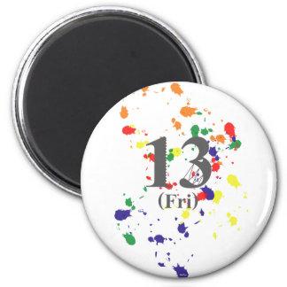 13th Friday Fridge Magnet