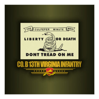 13th Virginia Infantry Co B Posters