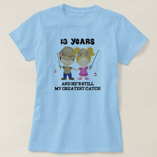 13th Wedding Anniversary Gift For Her T Shirt Zazzle