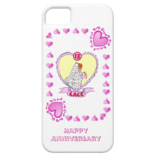 13th wedding anniversary lace iPhone 5 cover