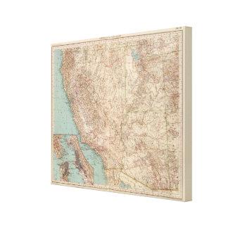 14041 Calif, Nev, Utah, Ariz Canvas Print