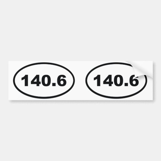 140.6 miles Triathlon Bumper Sticker