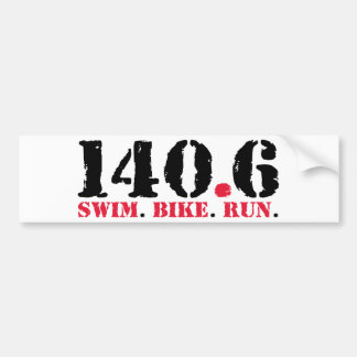 140.6 Swim Bike Run Bumper Sticker