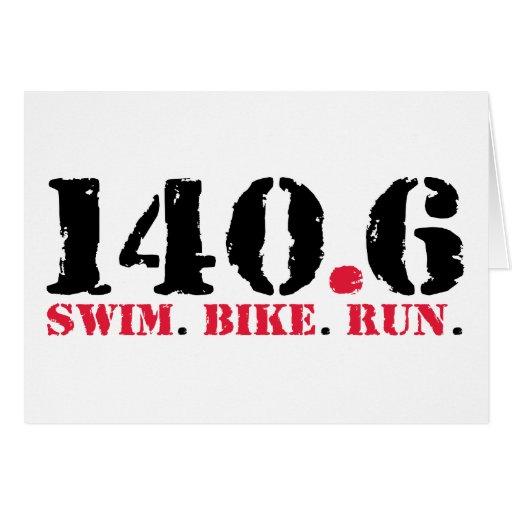 140.6 Swim Bike Run Cards