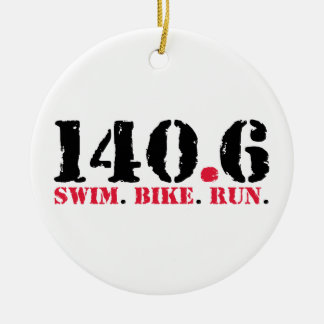 140.6 Swim Bike Run Christmas Ornament