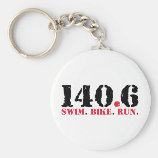 140.6 Swim Bike Run Key Ring