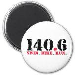 140.6 Swim Bike Run Magnet