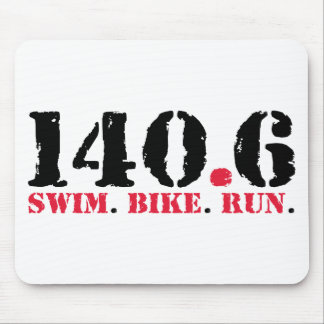 140.6 Swim Bike Run Mouse Mat