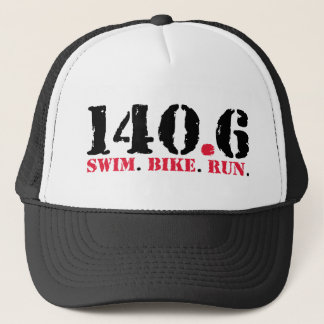 140.6 Swim Bike Run Trucker Hat