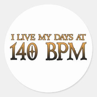 140 BPM Days DUBSTEP Classic Round Sticker