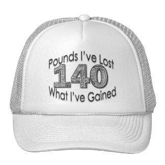 140 Pounds Lost Hat
