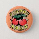 1413032011 Cherry Bomb Inverso (Rocker & Kustom) 6 Cm Round Badge