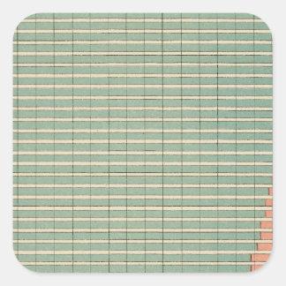 142 Farms by tenure Square Sticker