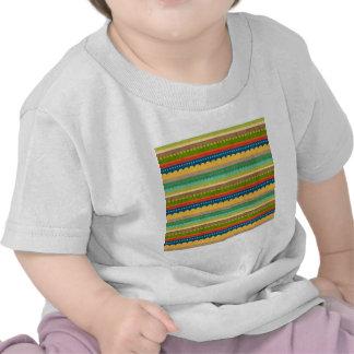 1443_stripes COLORFUL PATTERN STRIPES POLKADOTS CI T Shirts