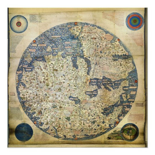 1450 World Map by Venetian Monk Fra Mauro
