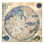 1458 World Map by Fra Mauro Art Photo
