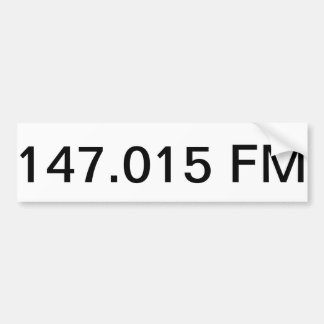 147 015 FM Bumper Sticker