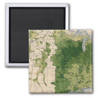 147 Neat cattle/sq mile Square Magnet