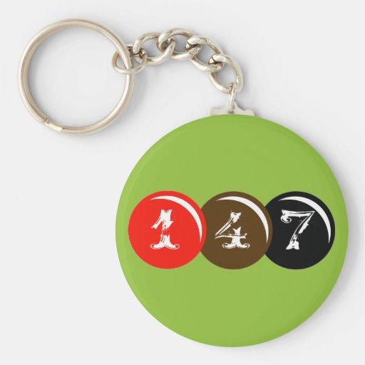 147 Snooker Balls Keychains
