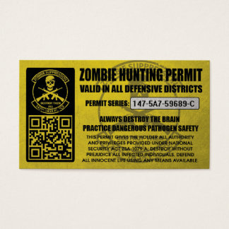 147th Zombie Task Force Hunting Permits