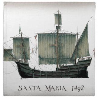 1492 Santa Maria by Tony Fernandes Napkin
