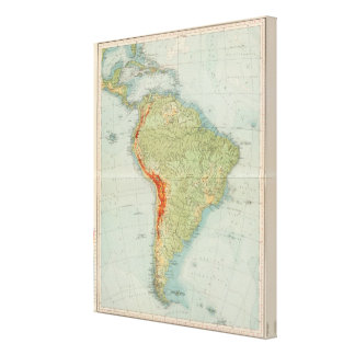 14950 South America Physical Canvas Print