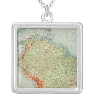 14950 South America Physical Silver Plated Necklace