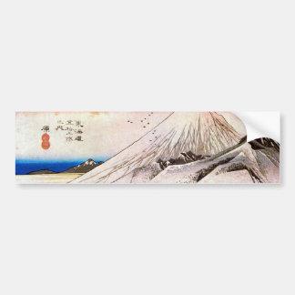 14. 原宿, 広重 Hara-juku, Hiroshige, Ukiyo-e Bumper Sticker