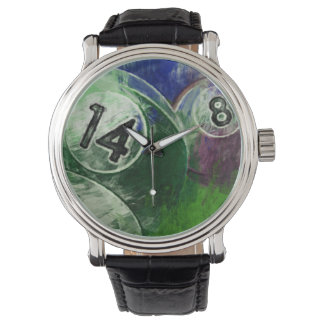 14 and 8 Billiards Wrist Watch