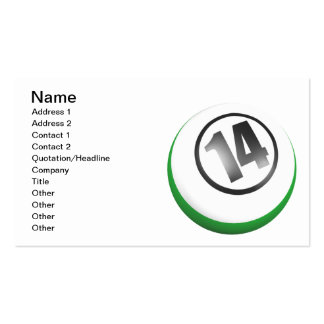 14 Ball Pack Of Standard Business Cards