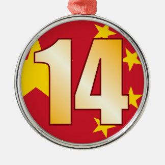 14 CHINA Gold Christmas Ornament