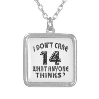 14 don't care birthday designs custom necklace
