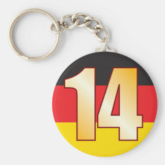 14 GERMANY Gold Basic Round Button Key Ring