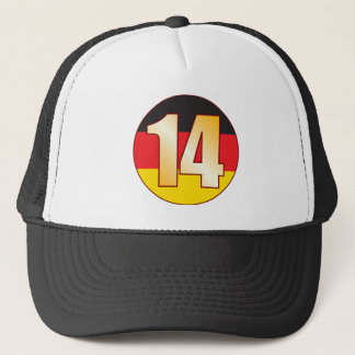 14 GERMANY Gold Trucker Hat