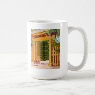 14 Mug - Original Art & Haiku - open door