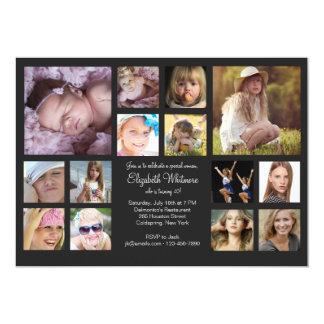 14 Photo Collage 13 Cm X 18 Cm Invitation Card