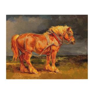 "14""x11"" Horse painting Wood Wall Art"