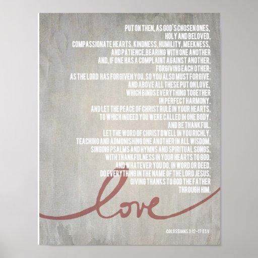 "14"" x 11"" Colossians 3:12-17 Poster"