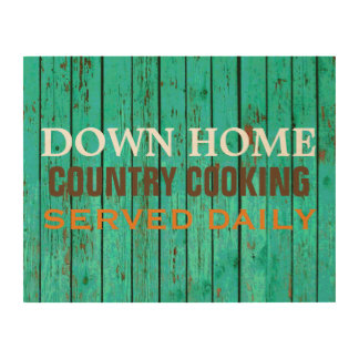 14 X 11 COUNTRY COOKING KITCHEN WOOD SIGN WOOD PRINTS