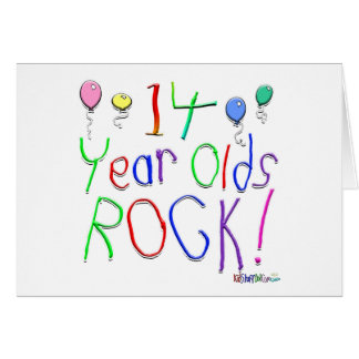 14 Year Olds Rock ! Greeting Card