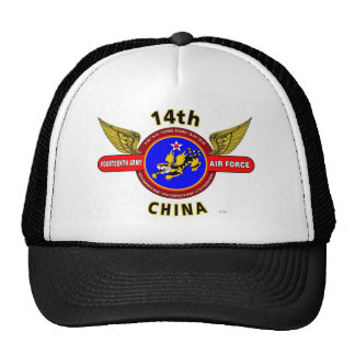 """14TH ARMY AIR FORCE """"ARMY AIR CORPS"""" WW II TRUCKER HATS"""