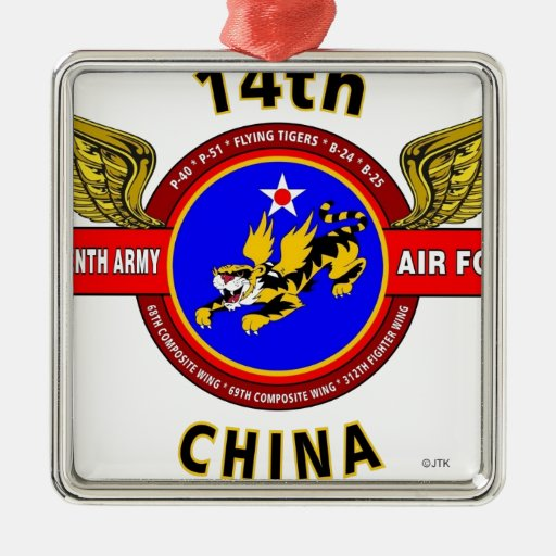 """14TH ARMY AIR FORCE """"ARMY AIR CORPS"""" WW II CHRISTMAS TREE ORNAMENT"""