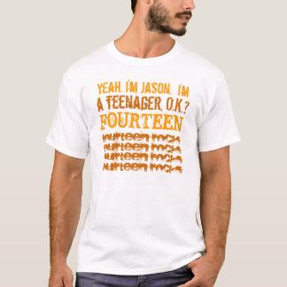 14th Birthda yFourteen Rocks White and Gold T-Shirt