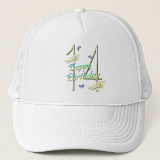 14th Birthday Butterfly Garden Hat
