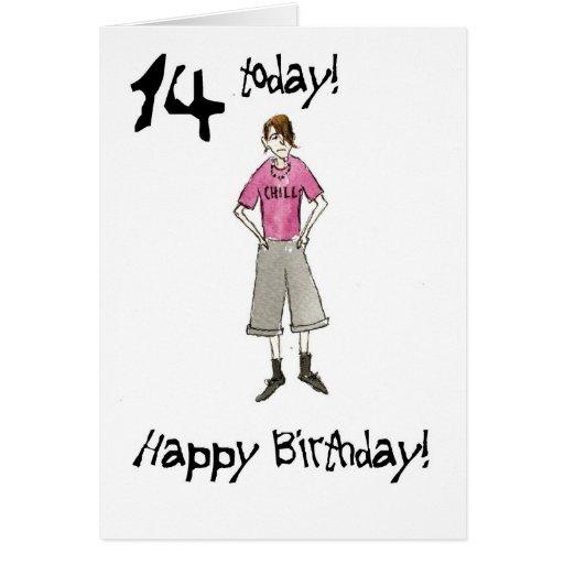 14th Birthday Card For A Boy