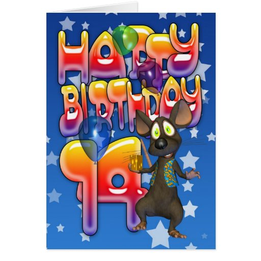14th Birthday Card, Happy Birthday